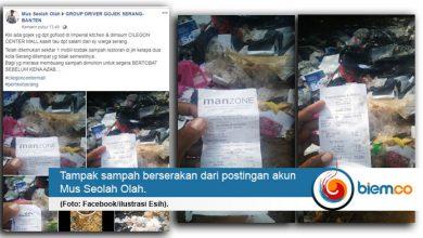 Sampah Berserakan di Serang Diduga dari Perusahaan Cilegon
