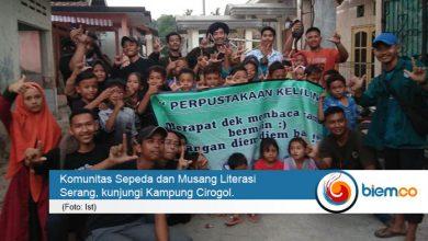 Komunitas Sepeda dan Musang Literasi Komitmen Tingkatkan Minat Baca Masyarakat Serang