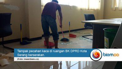Photo of 'Dijenguk' Angin dan Hujan, Ruang Dewan Kota Serang Porak Poranda