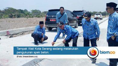 Wali Kota Serang Tinjau Langsung, Pengerjaan Betonisasi di Kecamatan Walantaka