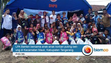 LPA Banten Bantu Kembalikan Keceriaan Anak-anak Korban Angin Puting Beliung