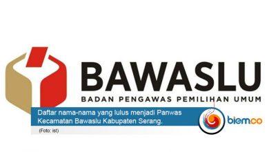 Anggota Panwascam Terpilih Kabupaten Serang Tahun 2020