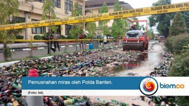 Jelang Nataru, Polda Banten Musnahkan Sebanyak 33.168 Botol Miras