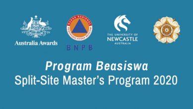 Photo of BNPB Buka Program Beasiswa Split-Site Master's Program 2020