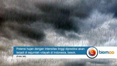 Photo of Banten Berpotensi Diguyur Hujan Lebat Besok, BMKG: Warga Harus Waspada