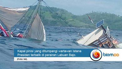 Photo of Kapal Wartawan Istana Terbalik Saat Liput Kunker Presiden di Labuan Bajo