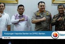 Tingkatkan Sinergitas, Kapolda Banten Kunjungi DPRD Banten