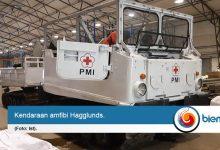 Bantu Bencana Banjir di Lebak, PMI Turunkan Amfibi Hagglunds