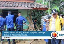 Tinjau Lokasi Banjir, Wabup Serang Fokus Penyelamatan Korban Jiwa