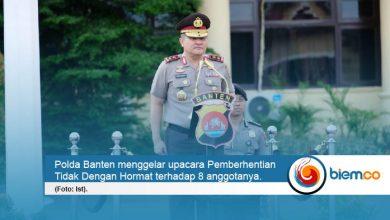 Polda Banten Berhentikan 8 Anggotanya Secara Tidak Hormat