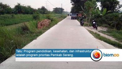 Photo of Tahun Ini, Pemkab Serang Tuntaskan Betonisasi Jalan 585,13 Kilometer