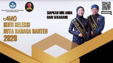 Photo of Ayo Ikuti Pemilihan Duta Bahasa Provinsi Banten Tahun 2020