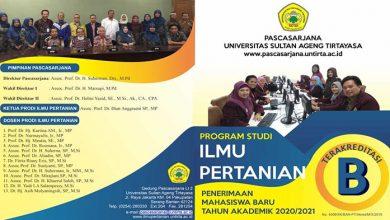 Photo of Program Magister Ilmu Pertanian Untirta Buka Pendaftaran Mahasiswa Baru
