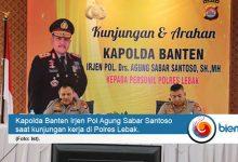 Photo of Kunjungi Polres Lebak, Kapolda Banten Harap Pelayanan SDM Unggul