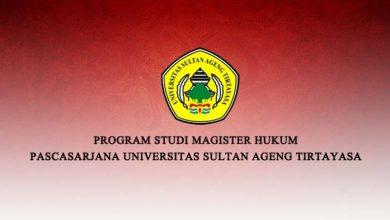 Photo of Prodi Magister Hukum Untirta Buka Pendaftaran Mahasiswa Baru