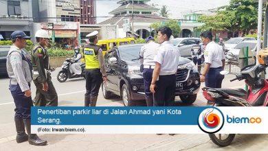 Dishub Provinsi Banten Tertibkan Parkir Liar di Jalan Protokol Kota Serang
