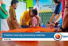 Penyandang Disabilitas Kota Serang Diberikan Pelatihan Kerja