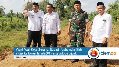 Photo of Pastikan Tanah GG yang Dijual, Wakil Wali Kota Serang Sidak ke Lokasi