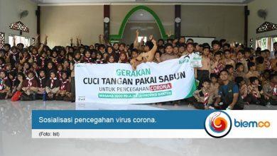 Laz Harfa Edukasi 3000 Pelajar di Banten Cegah Virus Corona