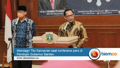 Mendagri Tito Karnavian Perbolehakan Banten Relokasi APBD untuk Tangani Covid-19