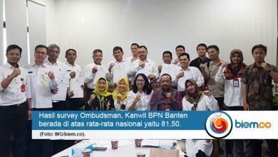 Dapat Nilai di Atas Rata-Rata Nasional, BPN Banten Akan Terus Tingkatkan Kualitas Pelayanan