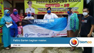 Pattiro Banten dan Yappika Salurkan Ribuan Masker