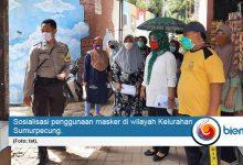 Kelurahan Sumurpecung Imbau Warganya untuk Gunakan Masker