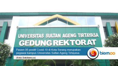 Photo of Pegawai Untirta Positif Covid-19 Merupakan Pasien 06 di Kota Serang