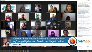 "Photo of Pusat Layanan Internasional Untirta Gelar Webinar ""International Students Experience Sharing"""