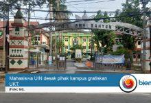 Photo of Jawab Tuntutan Mahasiswa, Rektorat UIN Banten: Sabar