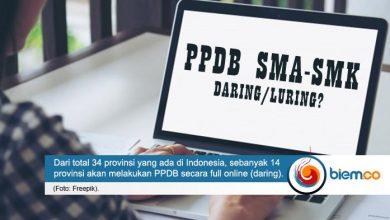 Photo of Hanya 14 Provinsi di Indonesia yang Lakukan PPDB Full Daring