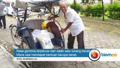Keren, CSR Beras BJB Disalurkan oleh PWI Banten untuk Tukang Becak