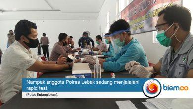 Photo of Pastikan Sehat dari Covid-19, Ratusan Anggota Polres Lebak Jalani Rapid Test