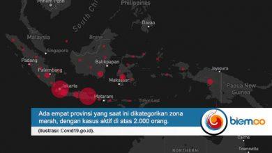 Photo of 4 Provinsi Masuk Kategori Zona Merah Penyebaran Covid-19