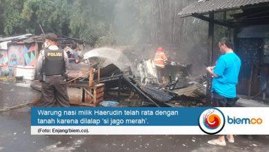 Photo of Warung Nasi di Lebak Terbakar, Pemilik Rugi Rp10 Juta