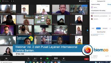 Photo of Pusat Layanan Internasional Untirta Banten Gelar Webinar Beasiswa