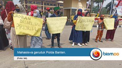 Photo of Geruduk Markas Polda, Mahasiswa Menuntut Keadilan Anak Disabilitas yang Dihakimi Warga