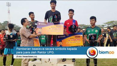 Photo of UPG Berikan Beasiswa Rp72 Juta Bagi Juara Liga B2GPS