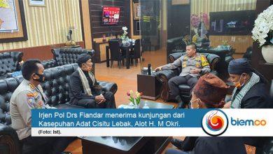 Photo of Kapolda Banten Terima Kunjungan Kasepuhan Adat Cisitu Lebak