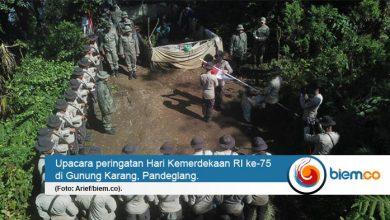 Photo of 75 Personel Brimob Banten Kibarkan Merah Putih di Ketinggian 1.778 MDPL