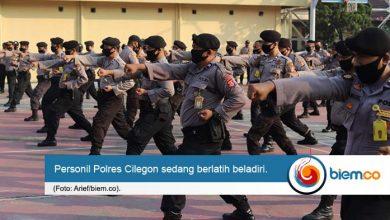 Photo of Tingkatkan Kesigapan, Personel Polres Cilegon Rutin Berlatih Beladiri