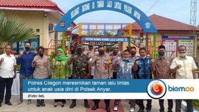 Photo of Polres Cilegon Resmikan Taman Lalu Lintas di Polsek Anyar