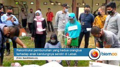 Photo of Polres Lebak Gelar Rekontruksi Orangtua Bunuh Anak Kandung Gara-gara Susah Belajar Daring
