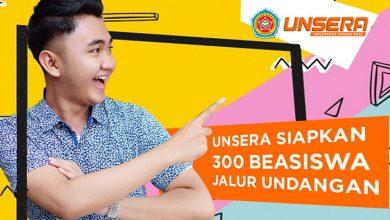 Photo of Unsera Siapkan 300 Beasiswa Kuliah Jalur Undangan